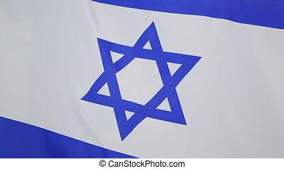 mouvement, israël, lent, drapeau