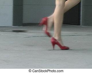 mouvement, jambes, lent, pulpeux, alina\'s
