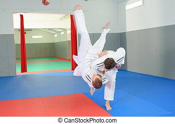 mouvement, judo, impressionnant