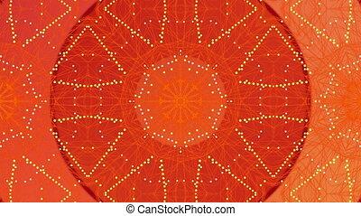 mouvement, kaléidoscopique, formes, numérique, en mouvement, orange, contre, hypnotique, fond, animation