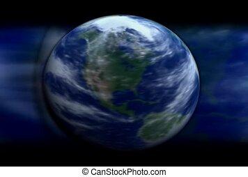 mouvement, la terre