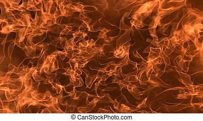 mouvement, lent, 3d, cadre, alpha, matte., render, explosion, brûler, flamme, remplir