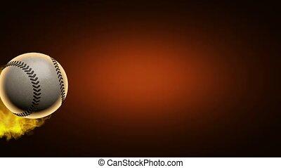 mouvement, lent, base-ball, brûlé, balle