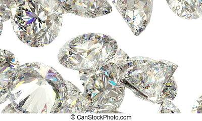 mouvement, lent, disperser, diamants