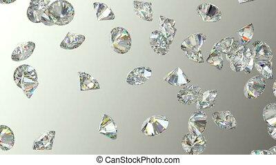 mouvement, lent, disperser, gemstones