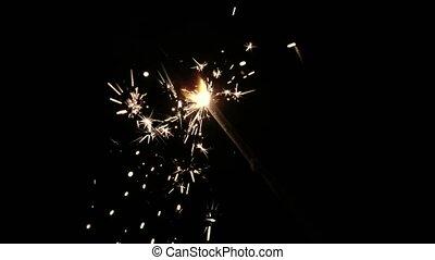 mouvement, lent, -, hd, sparkler.