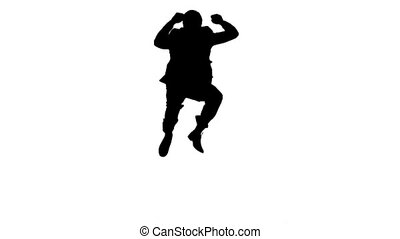 mouvement, lent, sauter, homme