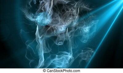 mouvement, lumière, 4k, fumée
