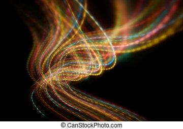 mouvement, lumière, brouillé