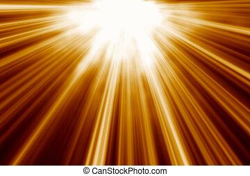 mouvement, lumière, résumé, vitesse, dieu