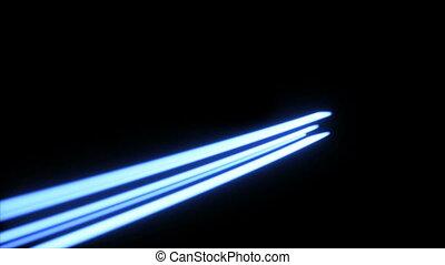 mouvement, lumière, streaks., fond