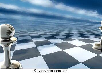 mouvement, morceaux échecs