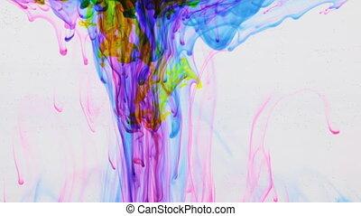 mouvement, peinture, water., sous, beau