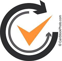 mouvement, plat, graphique, cyclic, symbole, recurrence, ...