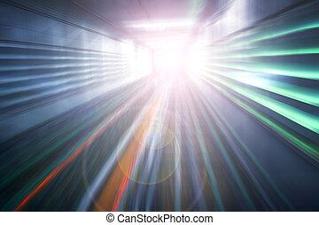 mouvement, résumé, vitesse, fond, accélération, lumière