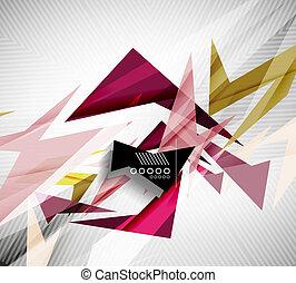 mouvement, rapide, lignes, directement, -, formes, ...