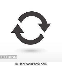 mouvement, recurrence, symbole, rotation, cyclic