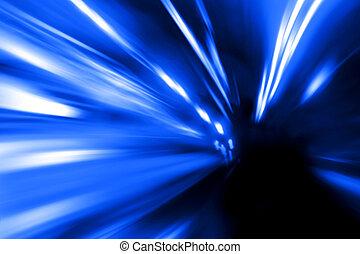 mouvement, rue, vitesse, nuit