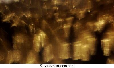 mouvement, surréaliste, voile de surface, lumière, résumé, ...