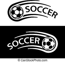 mouvement, symbole, ligne, balle, football