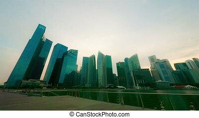 mouvement, timelapse, nuit, singapour