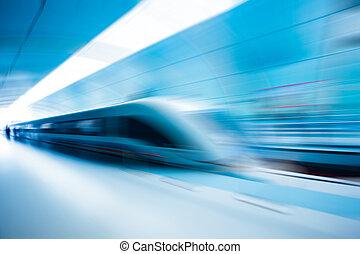 mouvement, train, barbouillage