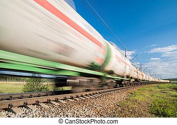 mouvement, train, fret