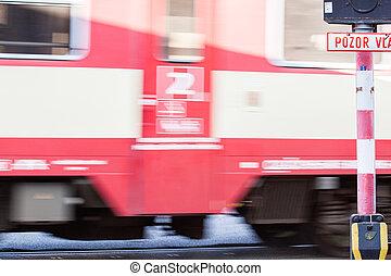 mouvement, train