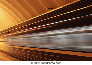 mouvement, train, vitesse, barbouillage