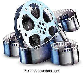mouvement, vector., cinéma, production., image, film-strip