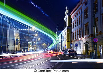 mouvement, ville, transit
