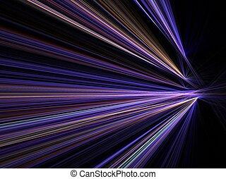 mouvement, ville, vitesse, lumières, barbouillage