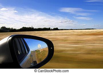 mouvement, voiture, barbouillage, fond, miroir