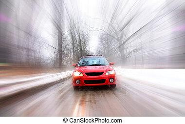 mouvement, voiture, jeûne