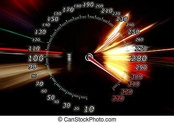 mouvement, zoom, accélération