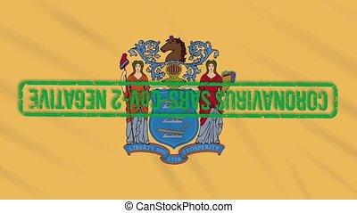 mouvementde va-et-vient, drapeau, boucle, nous, état vert, ...