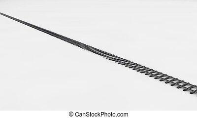 mouvements, super, train, chemin fer, fuselé, blanc