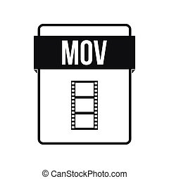 MOV file icon, simple style
