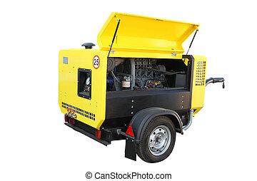 movable compressor - The image of a movable compressor under...