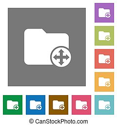 Move directory square flat icons