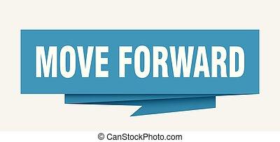 move forward sign. move forward paper origami speech bubble....