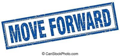 move forward square stamp