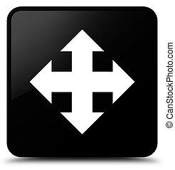 Move icon black square button