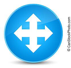 Move icon elegant cyan blue round button