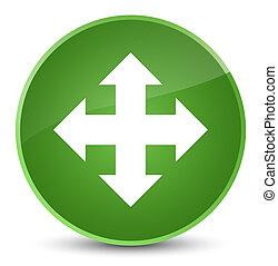 Move icon elegant soft green round button