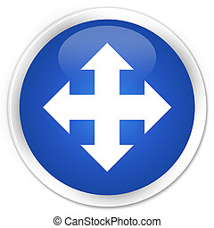 Move icon premium blue round button