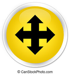 Move icon premium yellow round button