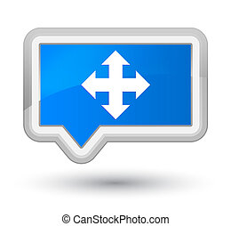 Move icon prime cyan blue banner button