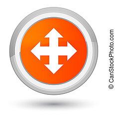 Move icon prime orange round button