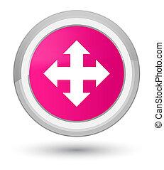 Move icon prime pink round button